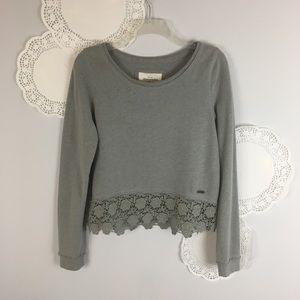 Abercrombie & Fitch Lace Gray Comfy Sweatshirt L